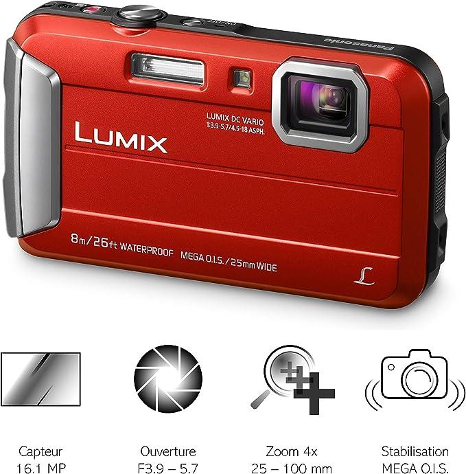 Panasonic Ft30 16 1 Mp 1 2 33 Ccd 4608 X 3456pixel Red Camera Photo