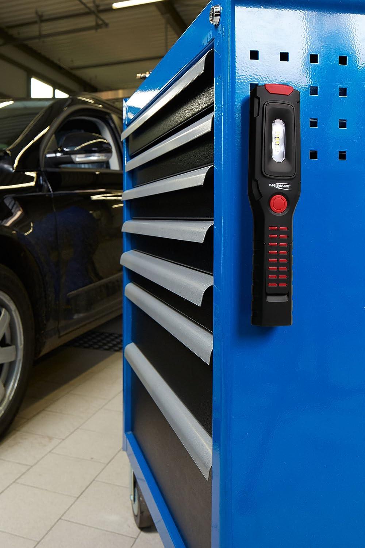 Arbeitsleuchte kabellos flexibel /& magnetisch Auto /& Notbeleuchtung ANSMANN LED Werkstattlampe IL300R mit 325 Lumen Arbeitslampe f/ür Werkstatt Wiederaufladbare 3W Funktionslampe mit Akku