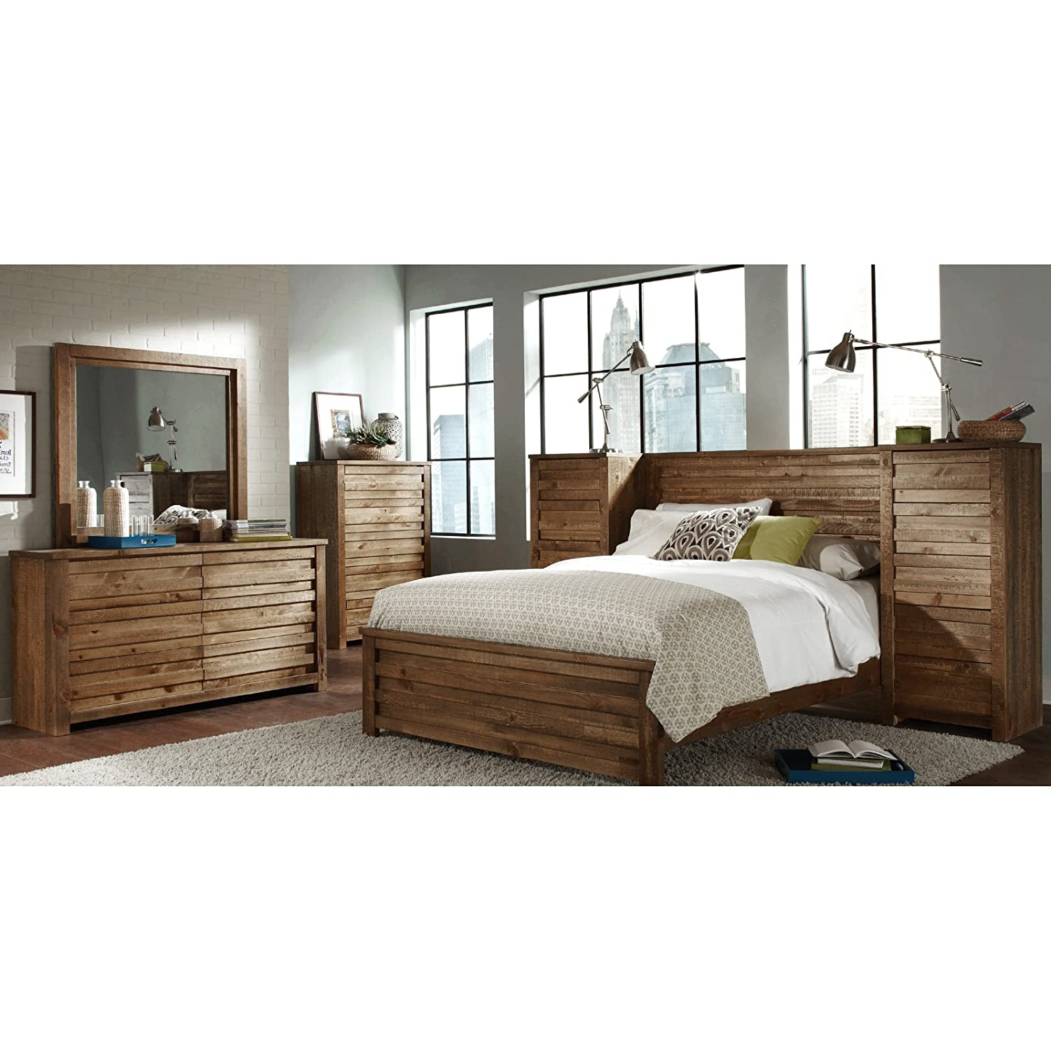 Amazon.com: Progressive Furniture Melrose Panel Bed: Kitchen & Dining