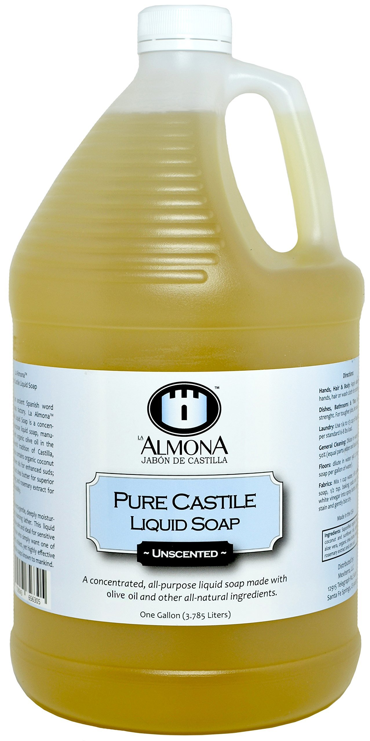 La Almona - Pure Castile Liquid Soap (Unscented), 1 Gallon by La Almona (Image #1)