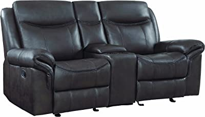 Amazon Com Homelegance Taye Double Recliner Sofa Leather