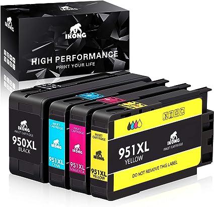 IKONG - Cartucho de tinta compatible para HP 950XL 951XL 950 951 compatible con HP OfficeJet Pro 8600 8610 8620 8100 8630 8660 8640 8615 8625 276DW 251DW 271DW: Amazon.es: Oficina y papelería