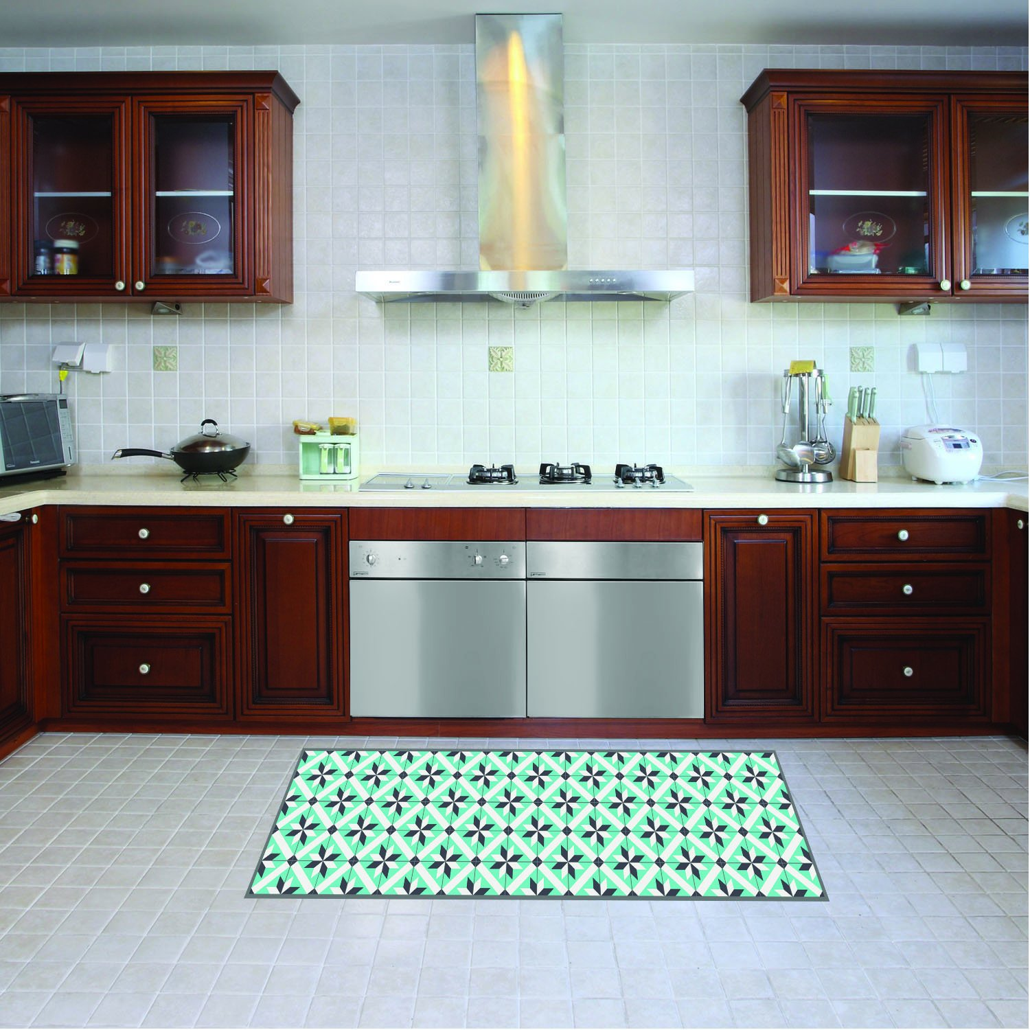 Kitchen runner machine washable rug 52cm x 280 cm anti mite mat