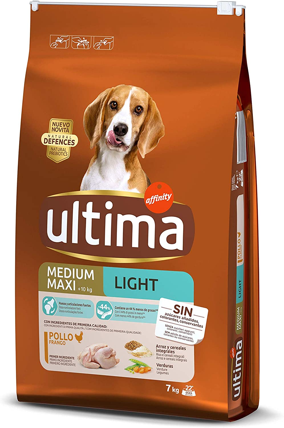 ultima Pienso para Perros Medium-Maxi Light con Pollo - 7000 gr