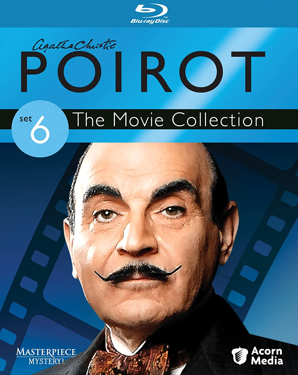 Agatha Christie S Poirot The Movie Collection Set 6 Blu Ray David Suchet Hugh Frasier Philip Jackson Charles Palmer Ashley Pearce Movies Tv
