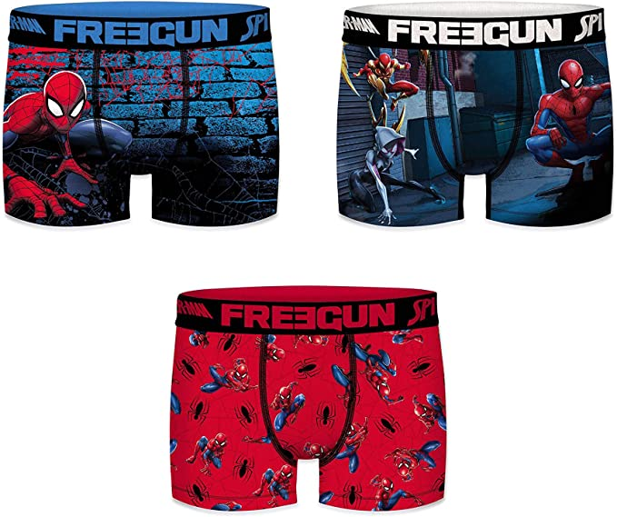 FREEGUN Boxer Spiderman Pantis (Pack de 3) para Niños: Amazon.es ...