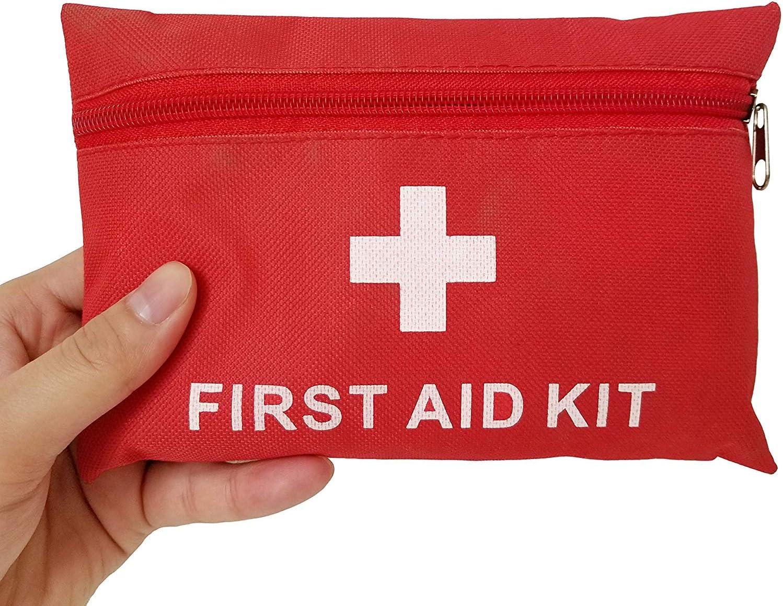 Ulmisfee Botiquín de Primeros Auxilios Bolsa de Supervivencia Médica Mini Bolsa de Emergencia Kit Primeros Auxilios para Automóvil, Hogar, Picnic, Camping, Viajes y Otras Actividades al Aire Libre