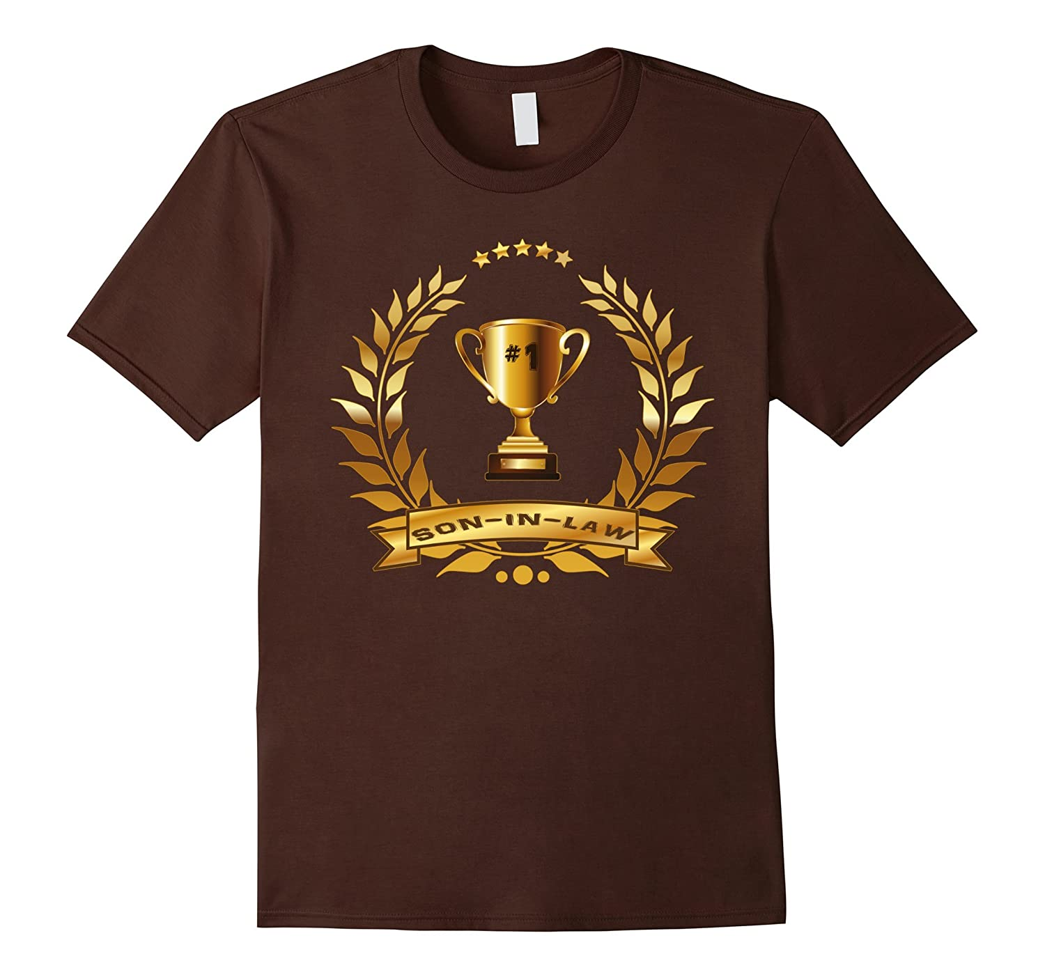 #1 Son-In-Law Shirt With Trophy-Gift For Best Son-In-Law