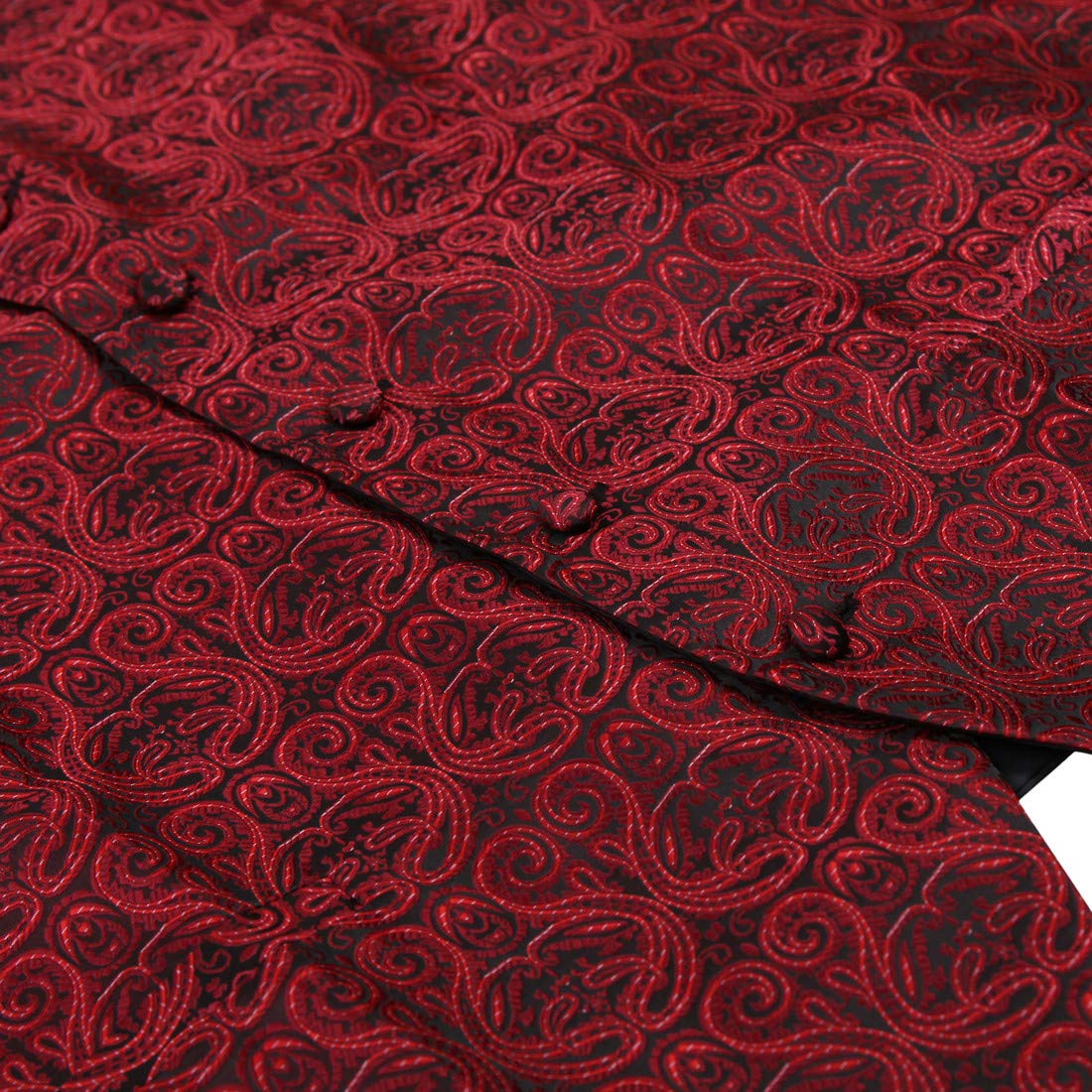 Epoint EGD1B06B-M Blue Black Paisley Microfiber Dress Tuxedo Vest Neck Tie Set Elegant For Birthday