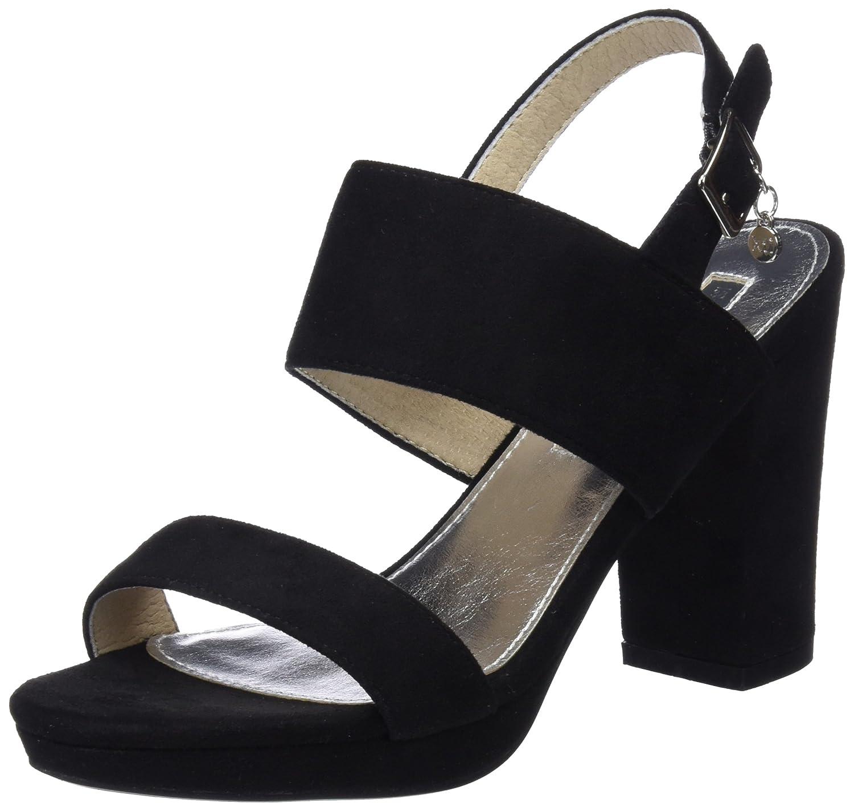 TALLA 38 EU. XTI 30753, Zapatos con Tacon y Correa de Tobillo para Mujer