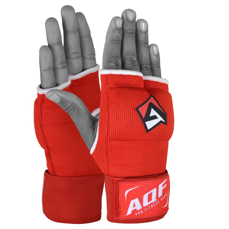 AQF int/érieure Boxe Gants Bandages Gel Gants Mitaines Muay Thai Stretch V2
