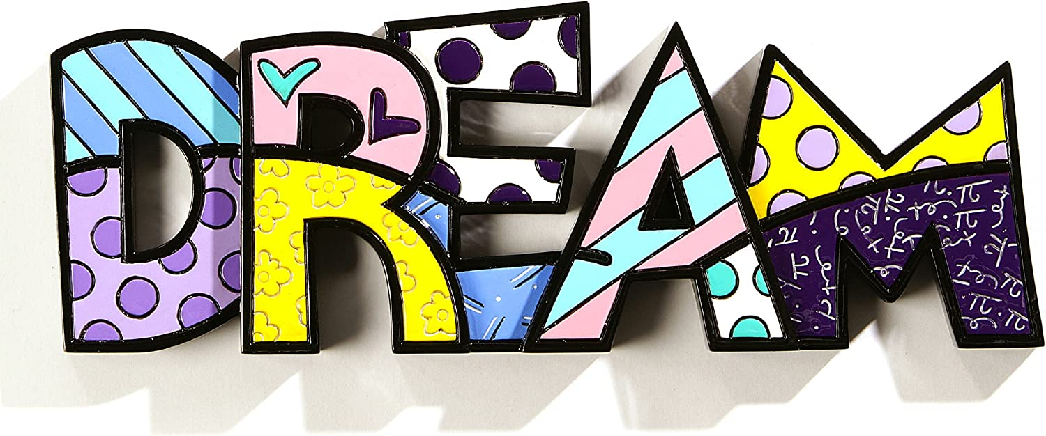 Romero Britto Dream Word Decor