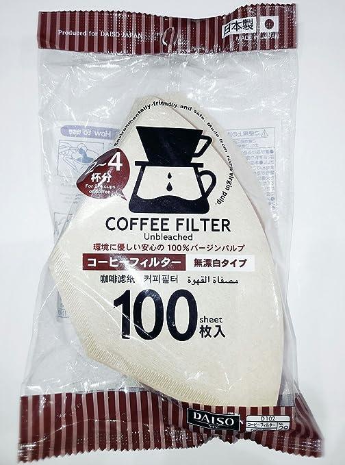 Amazon.com: Daiso Filtro de café Papel 102 [1 – 4 Persona ...