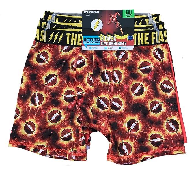 68e22c476bbe Amazon.com: Action Underwear Boys Boxer Briefs 3 Pack (Flash, M ...