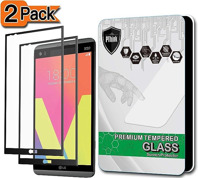 2-Pack] LG V20 Protector de Pantalla, PThink® [Pantalla Completa ...