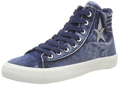 info for a4c60 c9edf REPLAY Edna, Sneaker a Collo Alto Donna: Amazon.it: Scarpe e ...