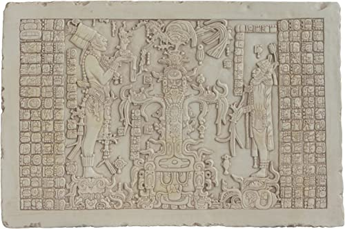 Culture Spot Maya Premium Quality Tablet of The Foliated Tree of Life Relief