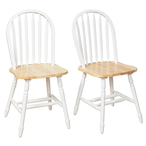 Fantastic Target Marketing Systems Tms Country Arrowback Dining Chairs Set Of 2 White And Natural Wood Gamerscity Chair Design For Home Gamerscityorg