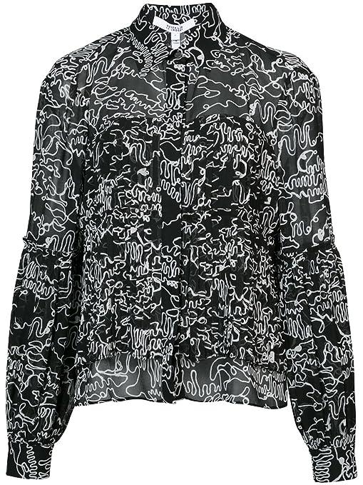 02761229a7b92 Amazon.com  Derek Lam 10 Crosby Long Sleeve Pleated Button-Down Shirt   Clothing