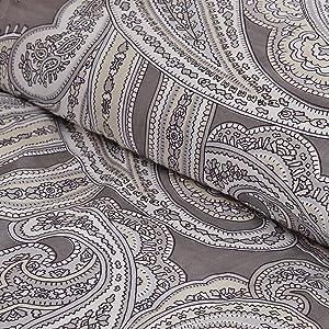 Madison Park Pure MPP10-004 Ronan 5 Piece Cotton Comforter Set, Grey