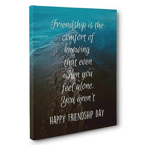 Friendship Is Comfort Wall Art Friendship Day Gift