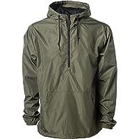 Global Blank Lightweight Windbreaker Hooded Jacket Water-Resistant Poncho Shell Men or Women