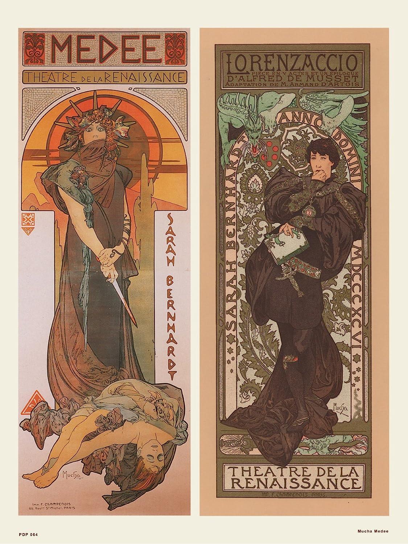 Alphonse Mucha Medee Fine Art Nouveau Deco LARGE 16 x 42cm Picture Poster Print