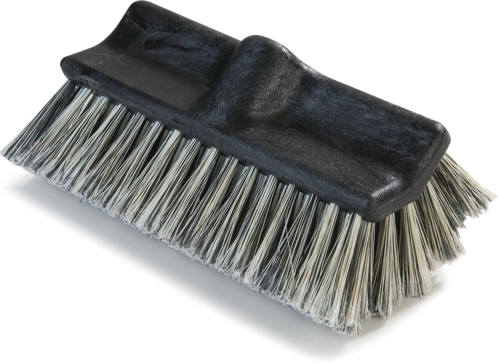 Carlisle 3649700 Flo-Pac Flo-Thru Dual Surface Brush, Plastic Foam Block, 2-1/2''-Long Flagged Polystyrene Bristles, 10'' L x 4-1/2'' W (Case of 12)