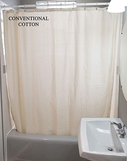 Amazon Com Bean Products Cotton Shower Curtain 70 X 74