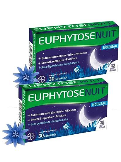 Euphytose Nuit - Lote de 2 cajas de 30 comprimidos para un mejor sueño