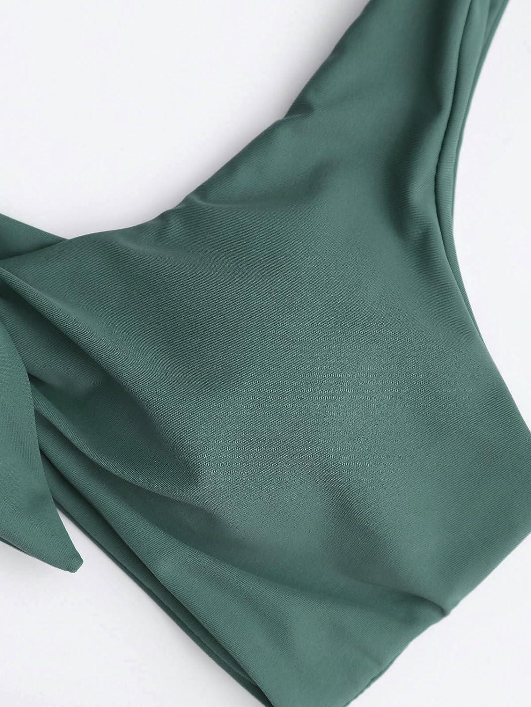 ZAFUL Bikini Set Imbottito con Nodo Frontela Costume da Bagno per Donna 2019