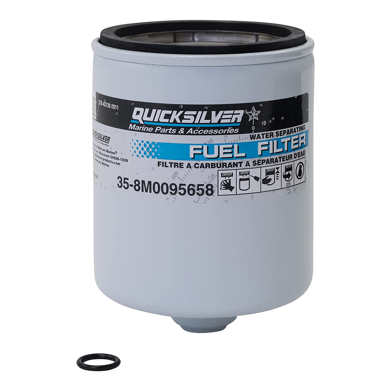 waterproof fuel filter wiring library Chevy Fuel Filter amazon com quicksilver 8m0095658 water separating fuel filter kit verado v 6