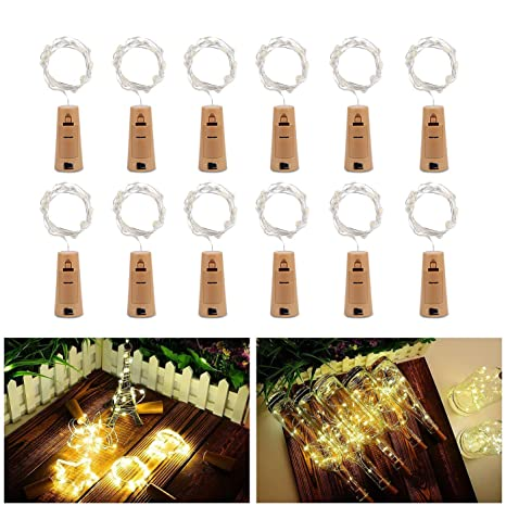 Botella de luz, ALED LIGHT 12 Pack Botellas de Vino Luces 20 LED Luz de