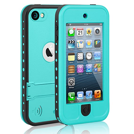 newest e15a6 cd47d meritcase Waterproof Case for iPod 7 iPod 5 iPod 6, Waterproof Shockproof  Dirtproof Snowproof Case Cover with Kickstand for Apple iPod Touch ...