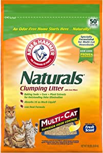 ARM & HAMMER Naturals Cat Litter, Multi Cat, 18lb Bag
