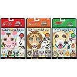 Melissa & Doug Make-a-Face Reusable Sticker Pad Animals 3-Pack (Safari, Farm, Pets)
