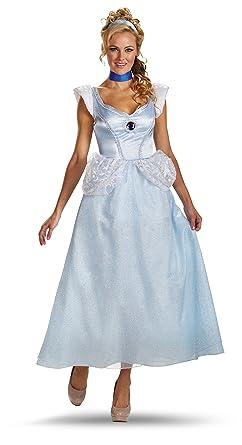 Disguise DIS50485 (M 8-10) Adult Cinderella Costume  sc 1 st  Amazon.com & Amazon.com: Adult Cinderella Costume Deluxe Disney Princess Costume ...