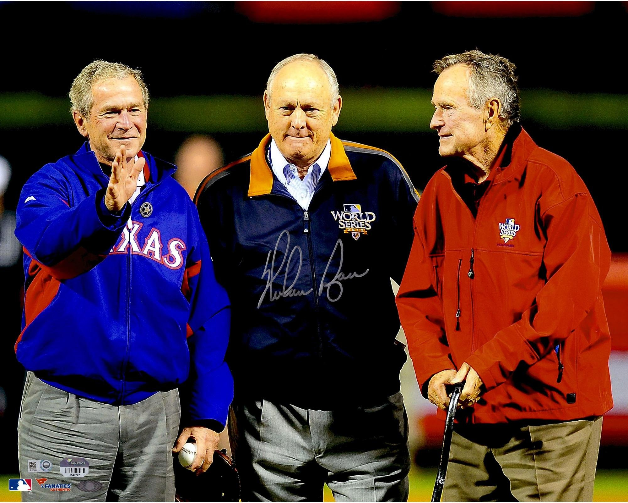 "Nolan Ryan Texas Rangers Autographed 16"" x 20"" With Presidents Photograph Fanatics Authentic Certified"