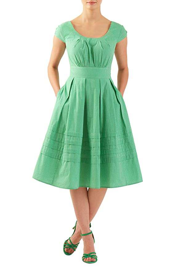 Plus Size Retro Dresses eShakti Womens Chelsea dress $58.95 AT vintagedancer.com