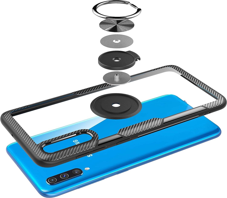 transparent PC zur/ückmit Ringhalter Schutzh/ülle Case YFXP Kompatibel mit Samsung Galaxy A51 H/ülle panzerglas schutzfolie Folie