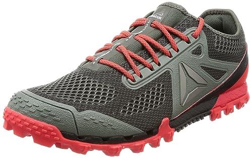 Reebok Terrain Craze, Scarpe da Trail Running Uomo, Grigio (Ironstone/Dayglow Red/Black), 41 EU