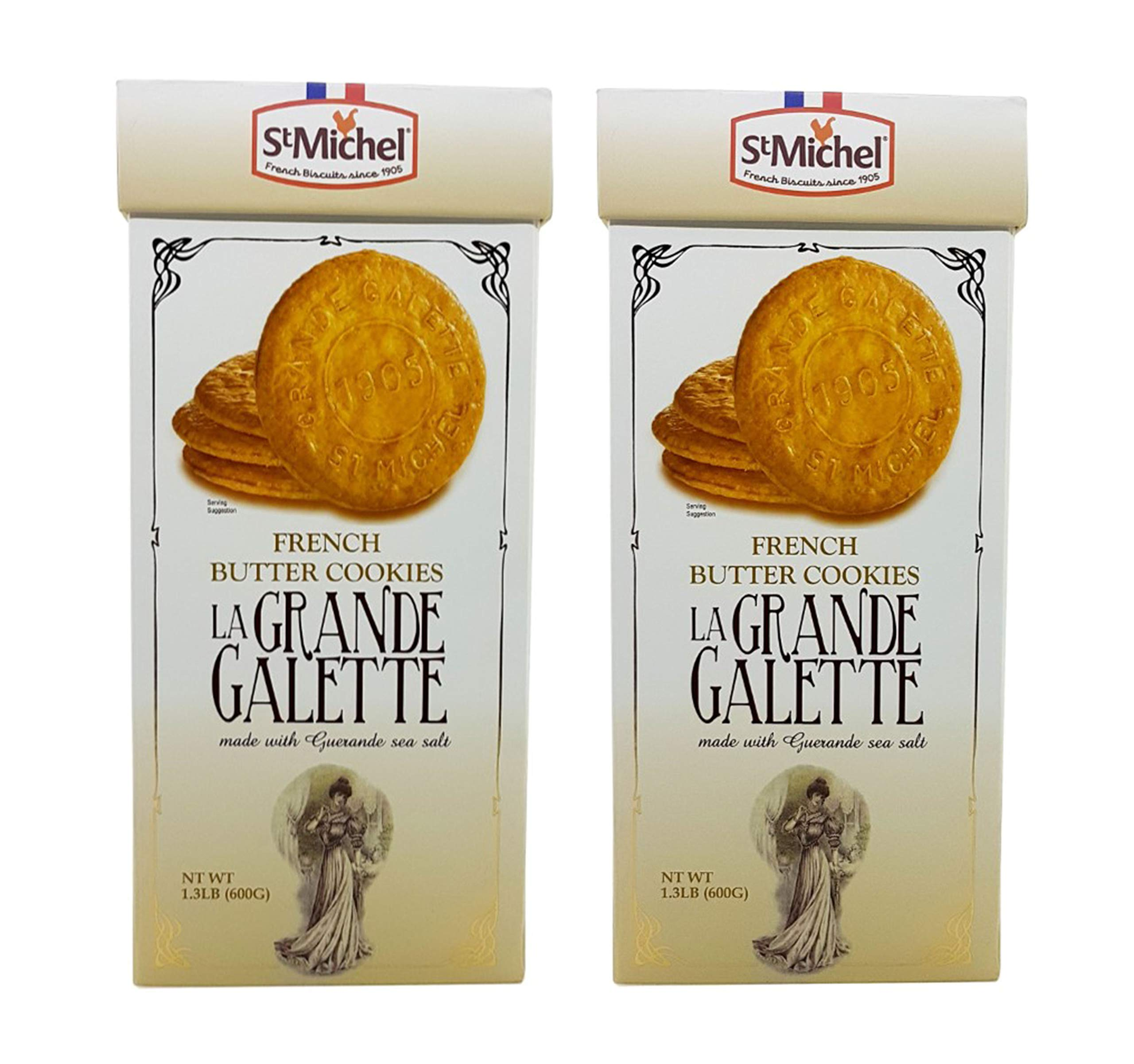 St Michel La Grande Galette French Butter Cookies Biscuits 1.3 LB (Pack of 2) by St Michel (Image #1)