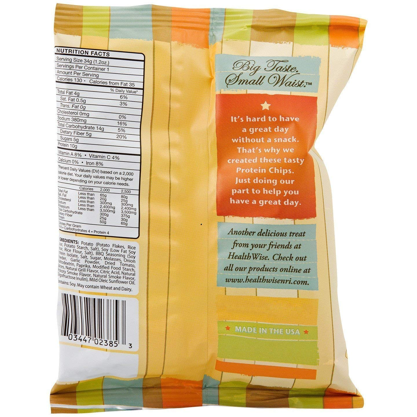 NutriWise - BBQ Potato Chips (80 Bags) by NutriWise (Image #2)