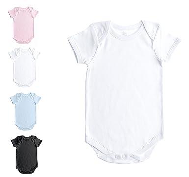 ec323b336 Baby Jay Soft Cotton Onesies, Short Sleeve Lap Shoulder Bodysuit, WSSE  White 0-