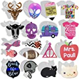 Keychain Charm Epoxy Resin Silicone Moulds Set Make Bag Tag Dog Tags Party Favors Alien Camper Megaphone Pencil T-Shirt Football Apple Skull Baby Cat Police Badge Football Helmets