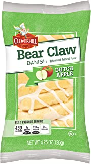 product image for Cloverhill Bear Claw Dutch Apple Danish, 4.25 Ounce -- 36 per case.