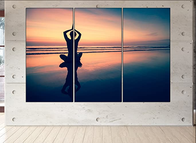 Amazon.com: yoga canvas yoga canvas wall art yoga wall art ...