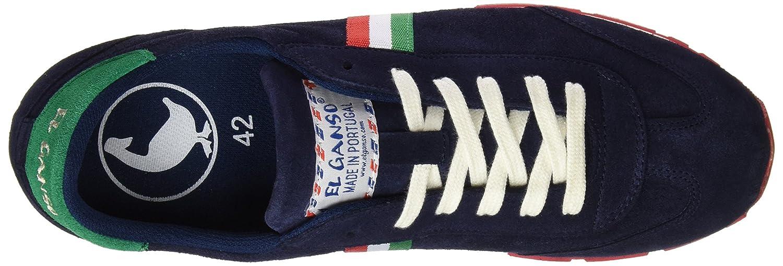 El Ganso Zapatilla Running Ante Marino Cinta - Zapatillas para Hombre, Color Azul, Talla 36: Amazon.es: Zapatos y complementos
