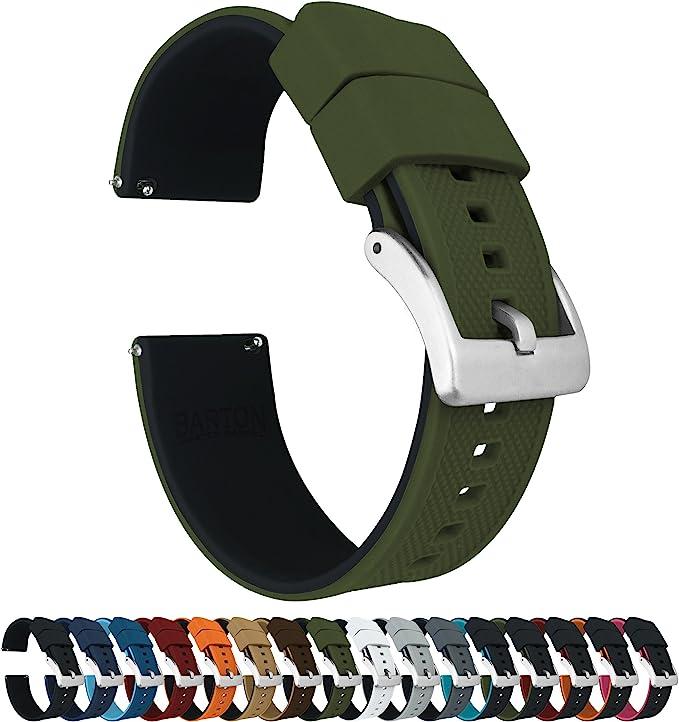 Barton Elite - Correa de Reloj de Silicona – liberación rápida – Elegir Color – 18 mm, 20 mm y 22 mm Correas de Reloj: Amazon.es: Relojes