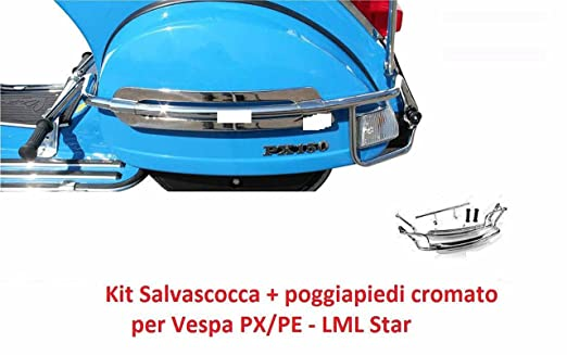Piaggio Vespa Px Lml Star 125/150/151/200 Chromium-Plated Rear Crash